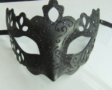 Black ornate Half Mask (c)
